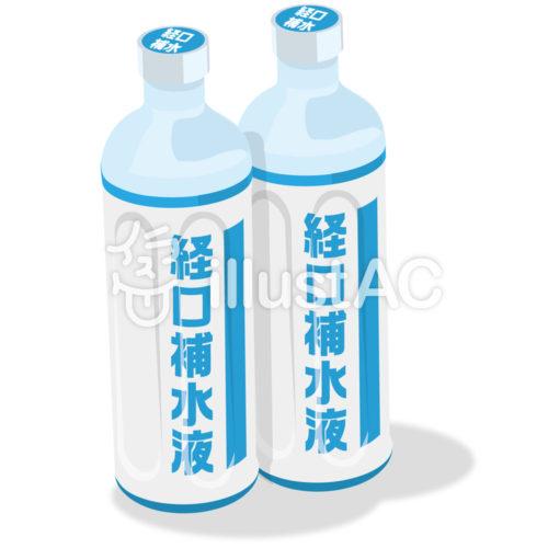 経口補水液のイラスト