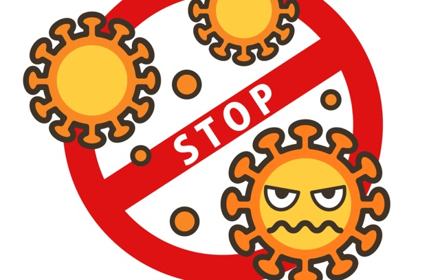 STOPウイルスのイラスト