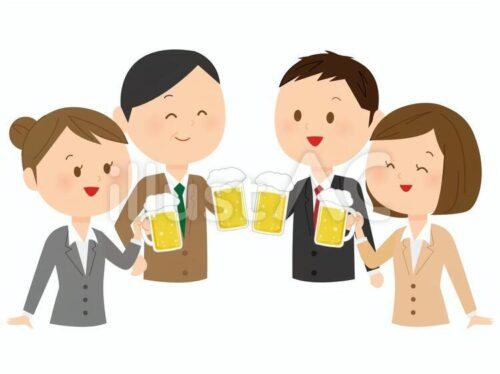 会社の飲み会フリー素材