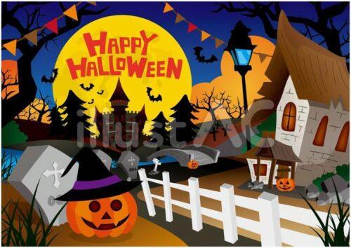 halloweenの一枚絵イラスト